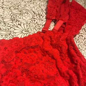 aerie Intimates & Sleepwear - Red Floral Lace aerie Bralette
